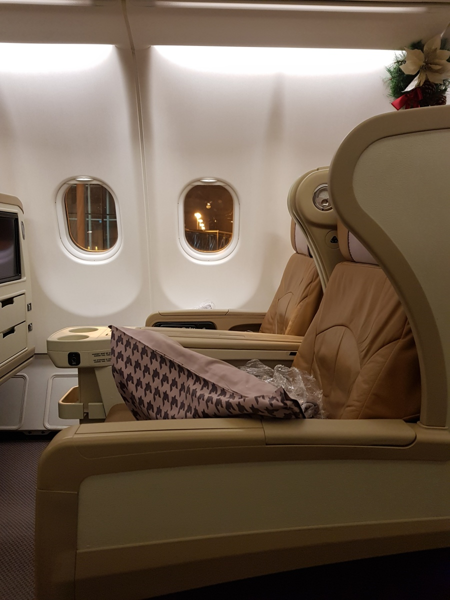 Flying Singapore Airlines Business Class from ICN to SIN (SQ603 / Airbus A330-300)